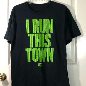 Champion I Run This Town T-Shirt Size Medium